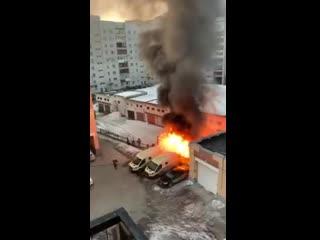 Пожар и взрыв во дворе Свободы, 26 в Архангельске