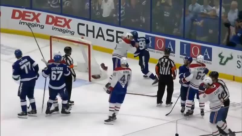 Михаил Сергачёв подрался👊 с Уэбером в матче Тампа Монреаль