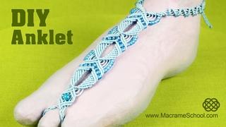 DIY Macramé Anklet - Barefoot Sandal Tutorial