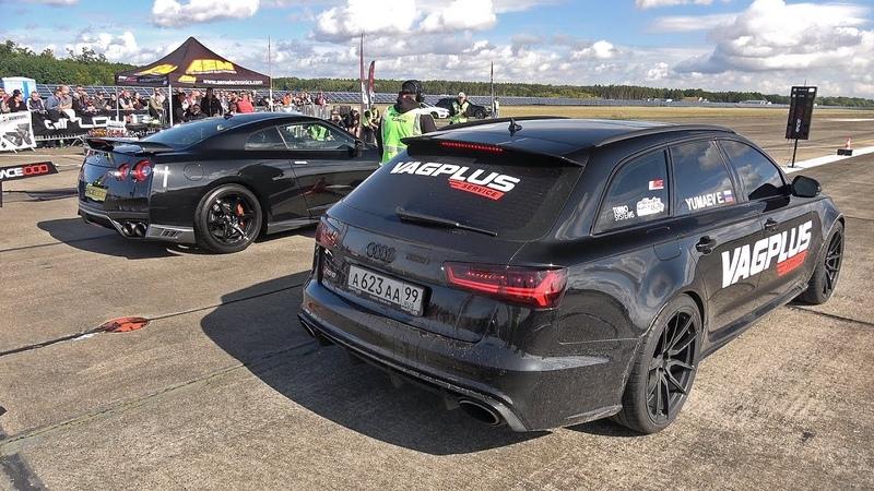 750HP Audi RS6 Avant C7 VAG Plus vs 700HP Nissan GT R R35 vs 700HP Opel Kadett Turbo