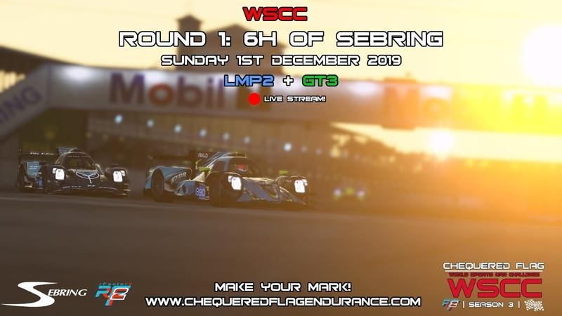 Rfactor2 - World Sports Car Challenge Round 1   6H Of Sebring [Live Stream]