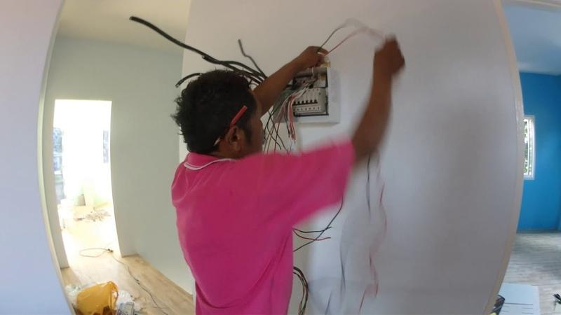 การติดตั้งกล่องควบคุมไฟฟ้าภายในบ้านภ 3
