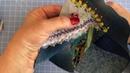 Вышиваем миниатюрную розу лентами для косметички
