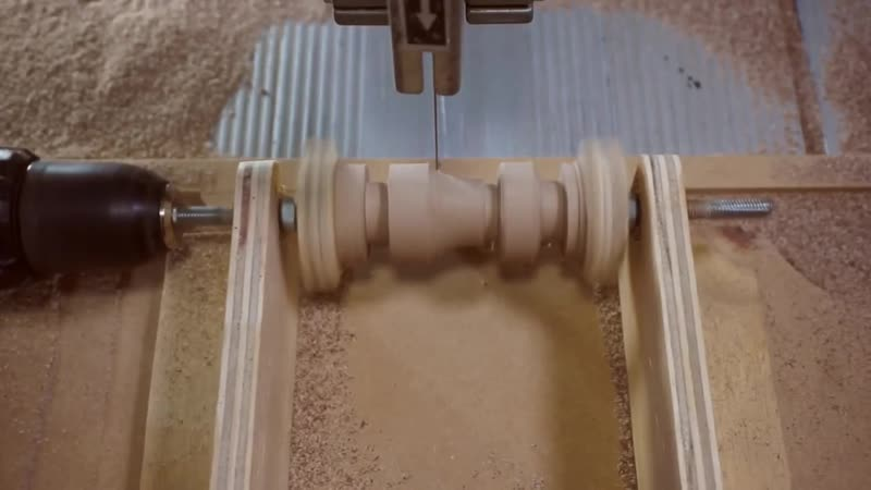 CLG Bandsaw woodturning Makers Central Chess Piece Challenge