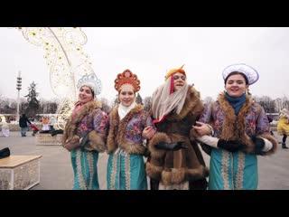 Главная BABA YAGA страны проводила Масленицу вместе с москвичами