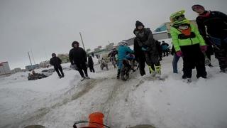 Мотокросс  зимой в городе Салават. Первая гонка сезона 2020