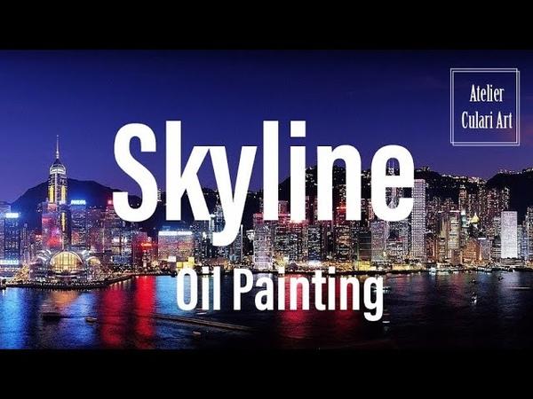 Moderne Kunst| Impressionistische Malerei | Ölmalerei |Art| Skyline| Oil Painting| Abstrakt Malerei