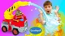 Игрушки для мальчиков в шоу Гулливерия - Новая пожарная станция робокары Поли и Рой тушат пожар!