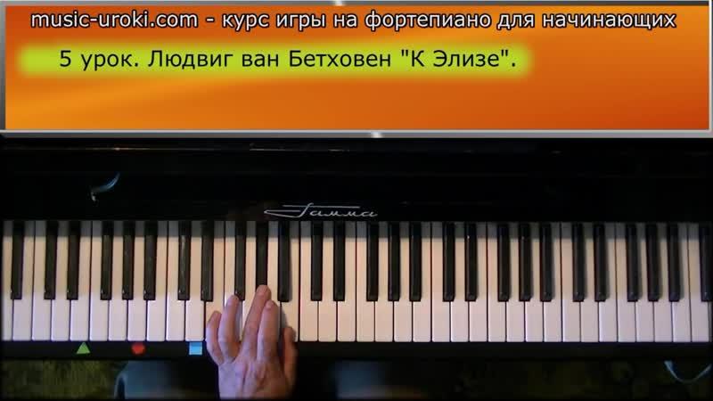 Урок 5 Курс фортепиано для начинающих Л в Бетховен К Элизе
