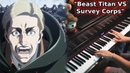 Shingeki no Kyojin 3 Part 2 EP 4 OST - Beast Titan VS Survey Corps(Piano Orchestral Cover)