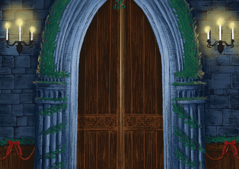 гифка дверь в другой мир пара