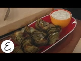 Grilled Artichoke With Charred Lemon Mayonnaise | Emeril Lagasse
