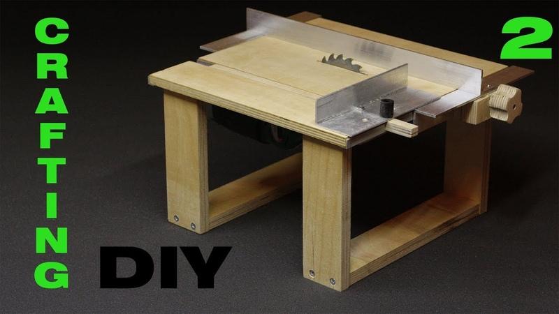 DIY Делаем мини циркулярный станок Mini saw table Часть 2 Каретка и параллельный упор