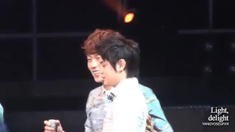 120422 Gikwang AJ wipe the tiers BEAST Fanmeeting Yoseob ver