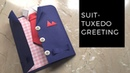 DIY Suit Tuxedo Greeting Card Tutorial How To Make Greetings How To Craft Anushree's Craft TV