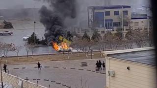 Golf 3 сгорел между 29 и 29а мкр в Актау