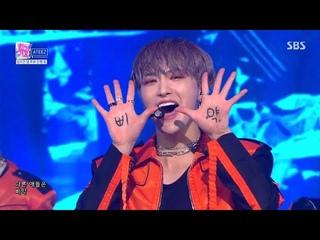 ATEEZ Fireworks, (Im The One) Last Performance 거침없는 '에이티즈'만의 넘치는 멋! '불놀이야' (출처 : SBS 인기가요   네이버TV)