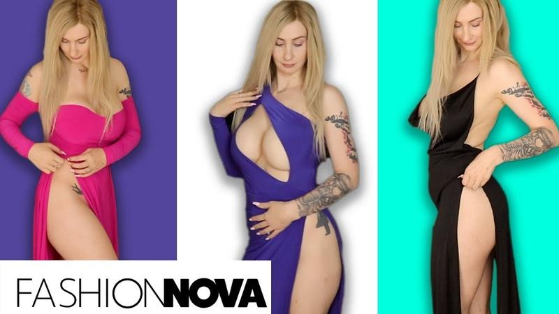 Fashion Nova High Slit Dresses 2!! Soufeel