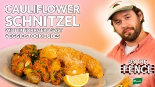 Crispy Cauliflower Schnitzel with Knorr Zero Salt Veggie Stock Cubes
