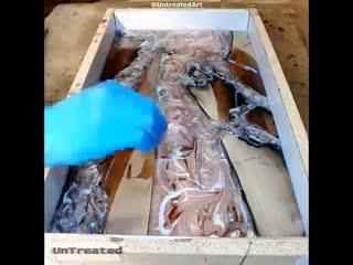 Изготовление столешницы - необычный вариант -