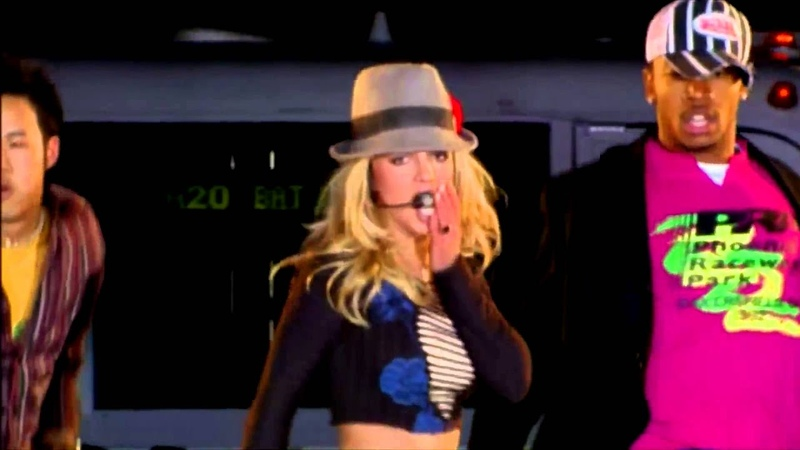 Britney Spears At Live on Times Square TRL Performance