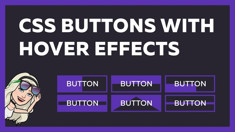 Buttons With Animation Hover Effects Using Only HTML CSS