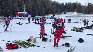 Начало Tour de ski 2019. Лыжные гонки, Сборная России.