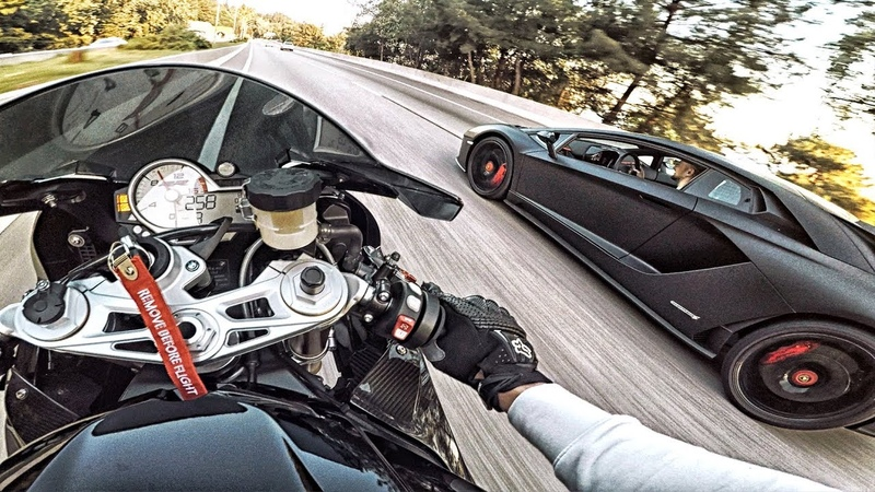 ЛИТРОВЫЙ МОТОЦИКЛ BMW против LAMBORGHINI AVENTADOR - Тачка за 30 МЛН РУБ надрала зад СПОРТБАЙКУ