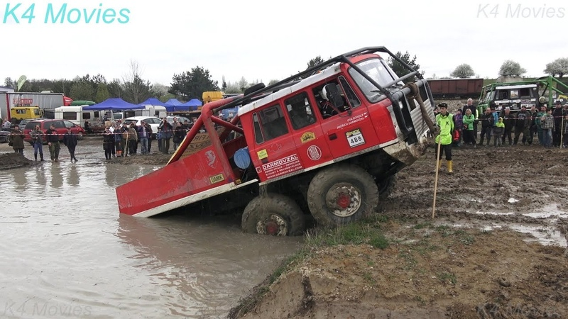 6x6 Truck Trial Tatra Ural Praga Off Road Truck Competition Milovice