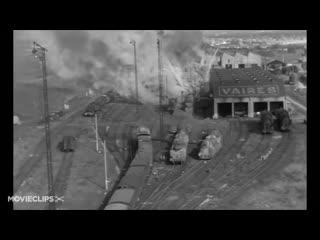 The train movie clip - allied bombing raid (1964) hd