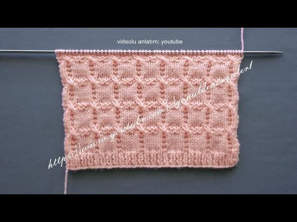 Bloklar örgü modeli her örgüye yakışan örnek (Blocks knitting pattern for everyone)