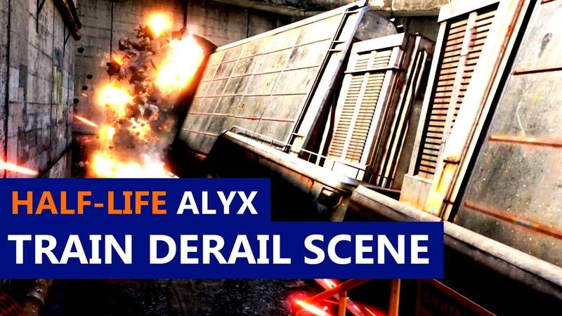 Half Life Alyx Train Derail Scene No Commentary