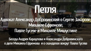 Адвокат Александр Добровинский о Сергее Захарове, Михаиле Ефремове, Павле Гусеве и Михаиле Мишустине