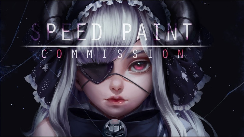 SpeedPaint-Commission Tsuki- Paint tool sai-Lulybot