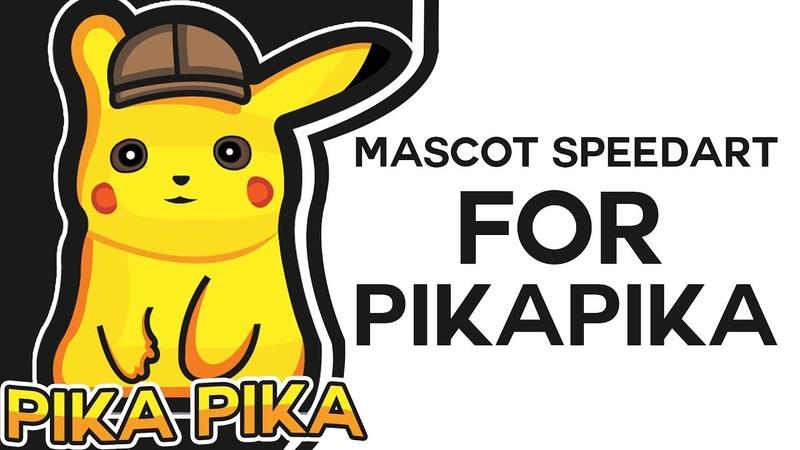 Mascot Logo SpeedArt For PIKAPIKA