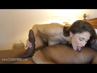 Busty MILF Roberta Gemma gets hard BBC in her ass [Brunette, Big Tits, High Heels, Stockings, All Sex, Interracial, HD 720p]