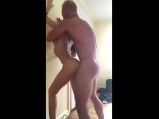 Fucking her standing up 2