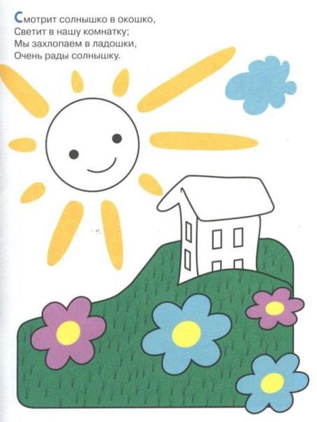 Пособие для рисования «Весёлые картинки» - Как работать с пособием Сначала книжку нужно просто прочитать и рассмотреть Коротенькие стишки к картинкам носят описательный характер. Читая с малышом
