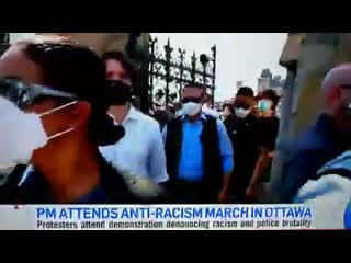 #BLACKFACE Mr Virtue-Signalling himself, Justin Trudeau, attended an anti-racist manifestation today.