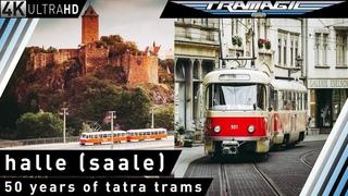 Halle (Saale): 50 Jahre Tatra-Straßenbahnen | 4K