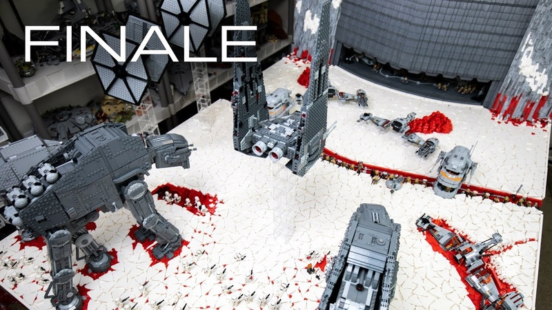 Building Crait in LEGO The FINALE