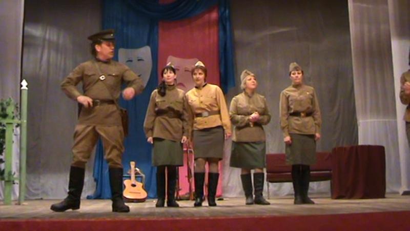 Отрывок из спектакля А зори здесь тихие.... Пудожский народный театр.