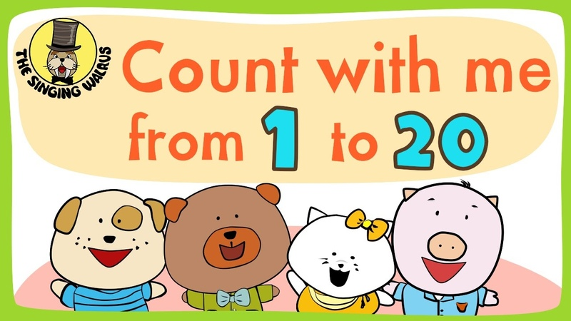 Number song 1 20 for children Counting numbers The Singing Walrus