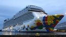 NORWEGIAN ENCORE | the spectacular giant big ship launch deep in the night at MEYER WERFT | 4K-Video