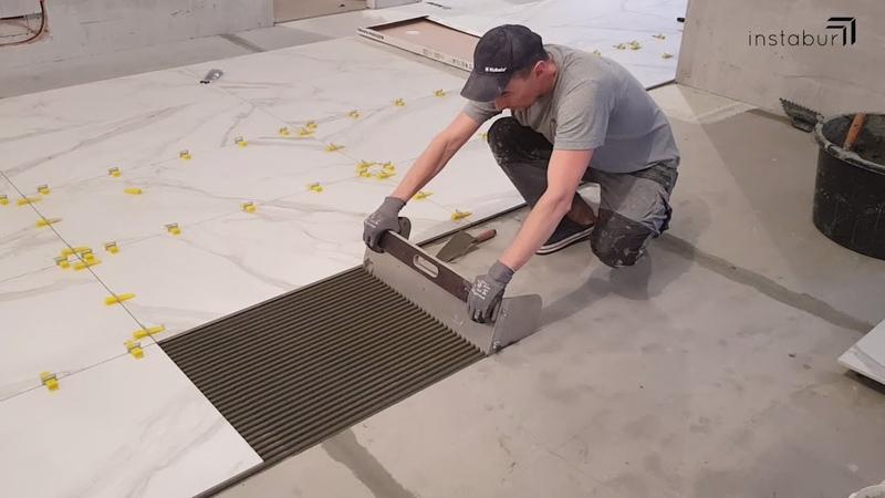 Укладка керамогранита 60x120 Супер гребёнка для плитки 600мм