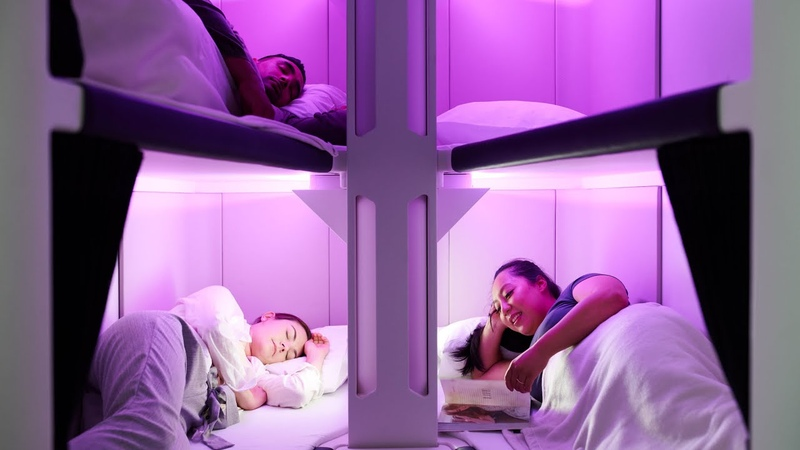Air New Zealand developing bunk bed style sleeping pod for economy flyers