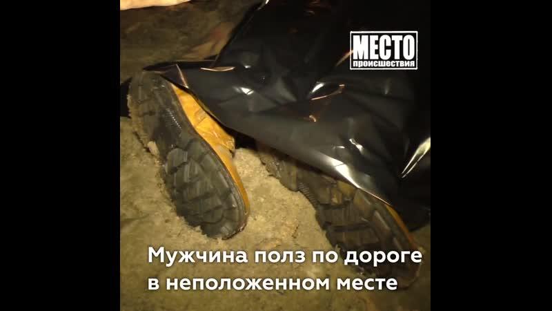 Полз по дороге и погиб в ДТП Победиловский тракт