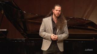 Cody Quattlebaum, bass-baritone & Michał Biel, piano    Juilliard Stephanie Blythe Master Class