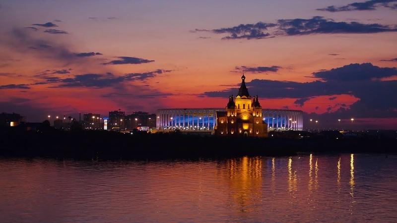 Нижний Новгород Аэросъемка Nizhny Novgorod Aerial Drone Footage SkyMovie