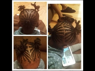 Toddler's Natural Hair: Cornrow ponytails tutorial!! (Detailed tutorial) (Type 4 B)